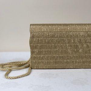 Vintage Gold Clutch Handbag Goldco